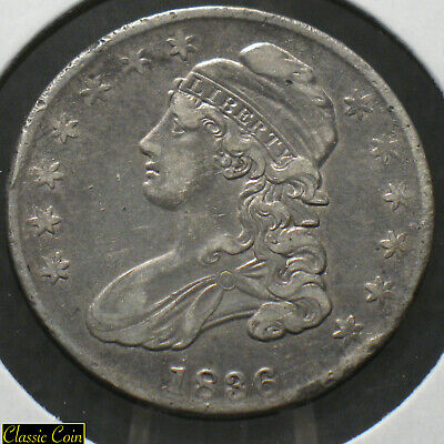 1836 Silver Capped Bust Half Dollar 50c XF Details 90% Silver