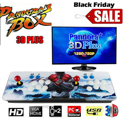 2019 Pandora Box 3D 2400 in 1 Retro Video Games Double Stick Arcade Console USA