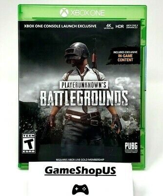 PLAYERUNKNOWN'S BATTLEGROUNDS FOR Xbox One PUBG DISC XB1 4K HDR - WRAP  REMOVED