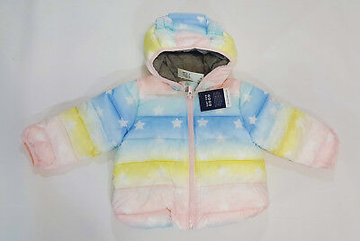 82369e36c0e8 NWT BABY GAP Girls Size 6-12 Months Rainbow ColdControl Lite Lined ...