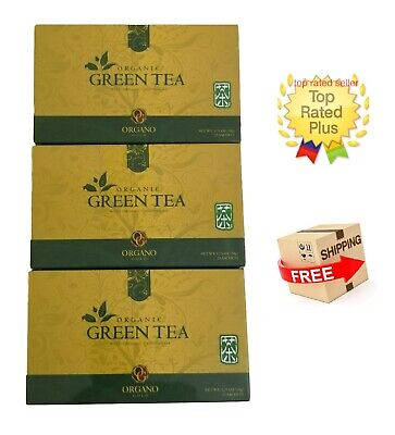 3 Cajas Organo Gold Green Tea With Ganoderma Lucidum - Expiry 02/2021 Tax Free