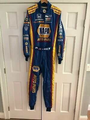 Alexander Rossi,Hand Signed,Race Used/Worn Drivers Suit, 2017 Sonoma Indy Race.