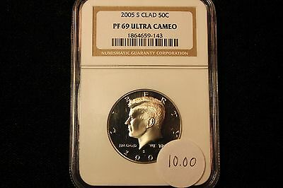 2005 S Ngc Clad Proof 69 Ultra Cameo United States Kennedy Half Dollar