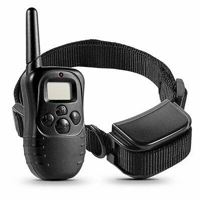 Pet Dog Rechargeable and Waterproof Training Collar With LCD Display UK Plug