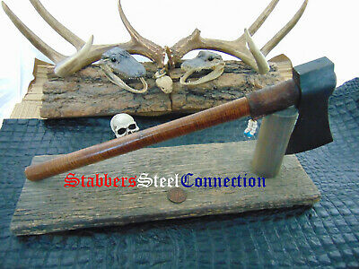 Anthony Blackburn Custom Hand Made Forged Throwing Toma Hawk Ax Beautul Stand