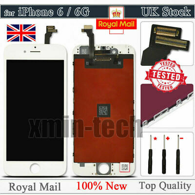 """White For iPhone 6 4.7"""" LCD Touch Display Assembly Digitizer Screen Replacement"""