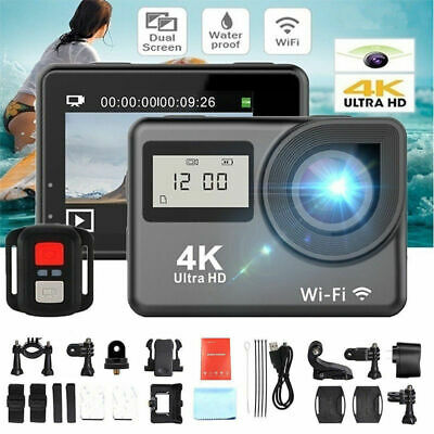 Action Camera 4K WiFi Waterproof Sport Helmet DVR Cam 1080P Ultra HD