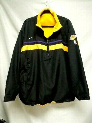 abd201799e6 Nike NBA Los Angeles Lakers Reversible 1 2 Zip Pull Over Jacket Mens XL