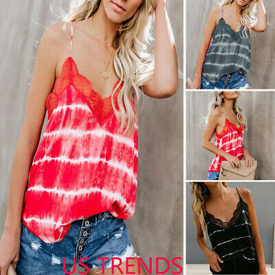 Womens Casual Camisole Strappy Vest Tops Sleeveless V Neck T-Shirt Blouse Tank Y