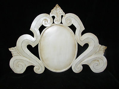 cartouche wall plaque baroque country shabby french architectural