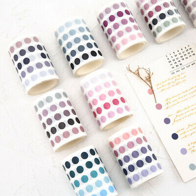Fresh Color Dots Sticker Washi Tape DIY Planner Diary Scrapbooking Masking Tape
