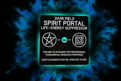 Dark field spirit portal.  A unique tool for psychic and paranormal research.
