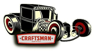 Craftsman Tool Sticker Ratster Vintage Glossy Decal Label Mechanic Tool Box Usa