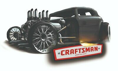 Craftsman Tool Sticker Hotrod Vintage Glossy Decal Label Mechanic Tool Box Usa