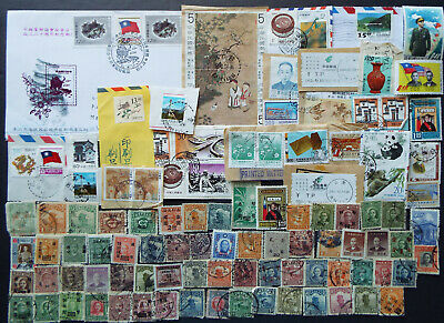 Mix Of Stamps From China On And Off Paper
