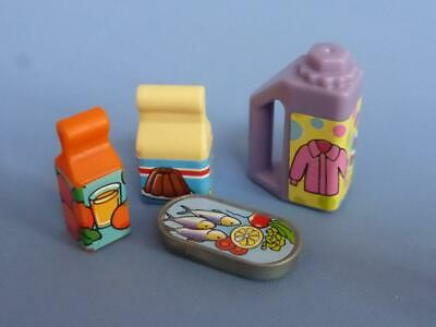 Playmobil Assorted food items  packet jar tins - House supermarket Shop NEW (D)