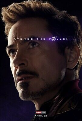 "Avengers End Game Poster Iron Man Marvel Movie Art Print 24x36"" 27x40"" 32x48"""