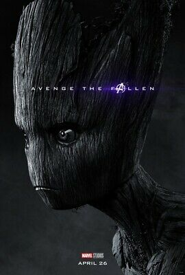 """Avengers End Game Poster Groot Marvel Movie Art Print 13x20 24x36"""" 27x40"""" 32x48"""""""