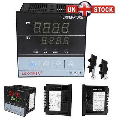 Digital PID Temperature Controller Universal Thermostat Sensor SSR&Relay