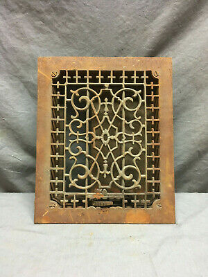 Antique Cast Iron Decorative Heat Grate Floor Register 8x10 Vintage Old 7-19L