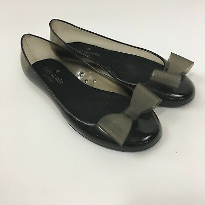 8862cf2ab42b Kate Spade Womens Ballet Flats Size 6 Black Jelly Bow