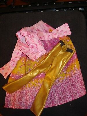 Barbie Secret Spells/wicca Pink Outfit~Pink Jacket/skirt & Gold Pleather Pants~