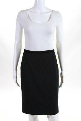 20432b9773 DOLCE & GABBANA Black Satin Feel Silk Blend A Line Skirt Size 40 EUC ...