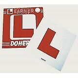 Self Adhesive Learner Plates Legal L-Plate Motorcycle Scooter (Pack 2)