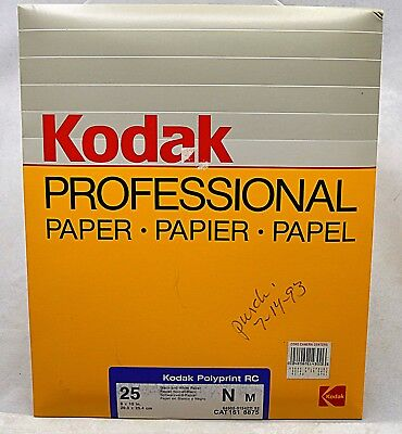"Kodak Photograhic Paper 25 shts 8x10"" Polyprint RC N, SEALED"