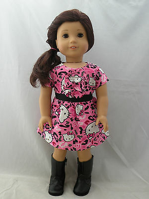 """Hello Kitty dress #3 fits 18""""  dolls and american girl dolls"""