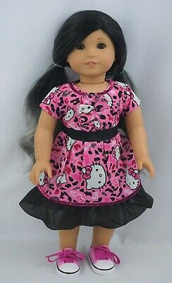 """Hello Kitty deluxe dress fits 18""""  dolls and american girl dolls"""