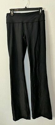 73b920a20 Lululemon Women s Workout Pants sz 6 Groove Yoga Medium Rise Flare Fit Black