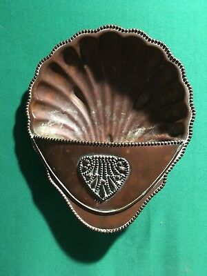 Signed Mission Arts & Crafts Era Copper Wall Pocket Planter Sconce Hand Made