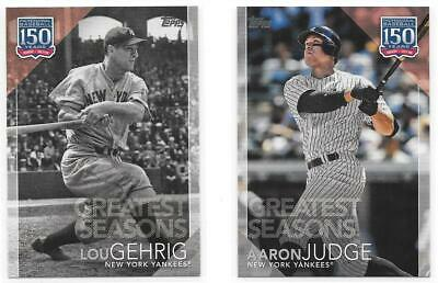 2019 Topps Series 1 Yankees Singles 150 Years Insert U Pick Complete Your Set