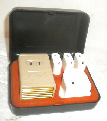 Franzus #1600 Travel Overseas Electric Converter Kit ~ Complete in Case