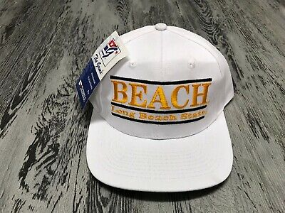 more photos 6f766 2776e NWT s Vintage Long Beach State 49ers The Game Split Bar Snapback Hat Cap  Rare
