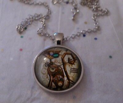 Steampunk * Art Deco * Art Nouveau Nightmare Before Christmas  Cabochon Necklace