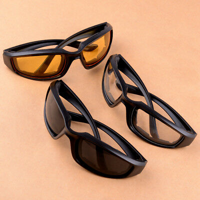 525ac33a3e2e6 3 Pairs Combo Chopper Padded Wind Resistant Sunglasses Motorcycle Sport  Glasses