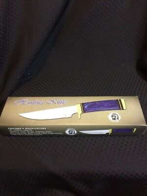 """CHIPAWAY CUTLERY 10"""" HUNTING KNIFE WITH LEATHER SHEATH IN BOX! New"""