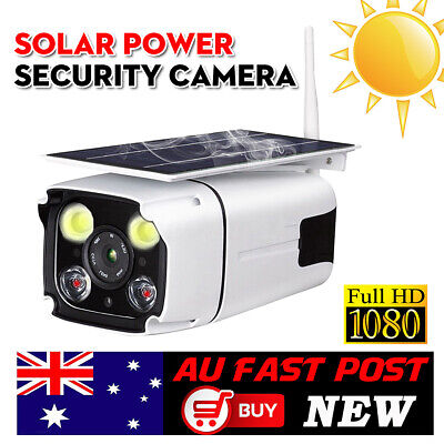 Wireless WiFi Solar Security IP Camera 1080P HD IPX67 Waterproof Night Vision