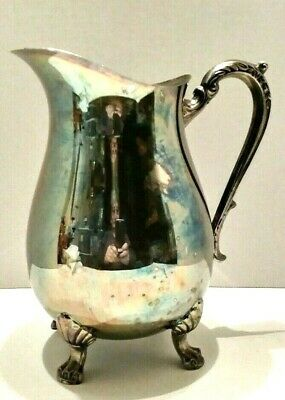 Vintage FB Rodgers Silver CO 1883 Silver Plated  Water Pitcher with Ice sheild