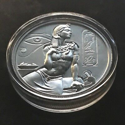 Cleopatra 2oz 999 de Plata Egyptian Dioses Serie High Relief Redonda Moneda