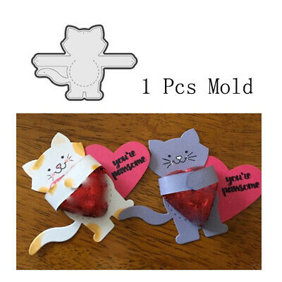 1 Pcs Cute Cat 69.8 * 96.7mm Metal Cutting Mold DIY Scrapbook Album Decoration