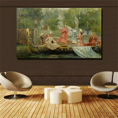 19 century Europe Court Oil Painting HD print on canvas huge wall picture #0740
