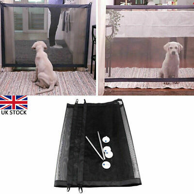 180*72cm Magic Mesh Pet Dog Cat Gate Door Barrier Safe Net Guard Fence Enclosure