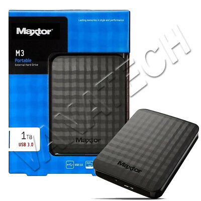 Hard Disk Esterno 2,5 Usb 3.0 1Tb 1000Gb Maxtor Autoalimentato Hd Ps4 Xbox Play