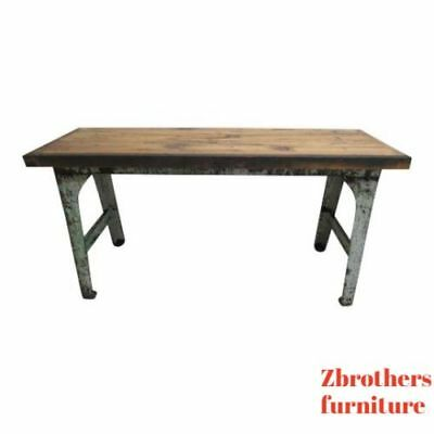 Antique Art Deco Cast Iron Industrial Sofa Hall Console Desk Drafting Table