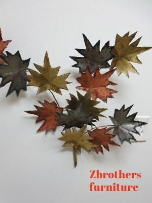Vintage Mid Century Metal Leaf Leaves Wall Sculpture