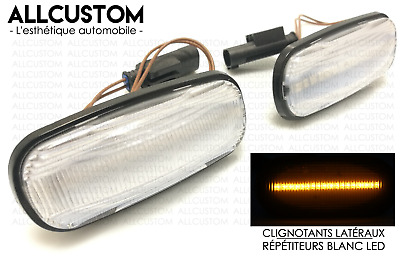 WHITE SIDE MARKER LED LIGHTS AMBER REPEATERS for LAND ROVER DISCOVERY 2 1999-04