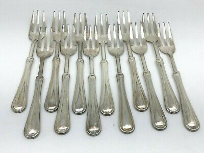 12 ~ Versilbert Italy Silverplate Seafood / Cocktail Forks